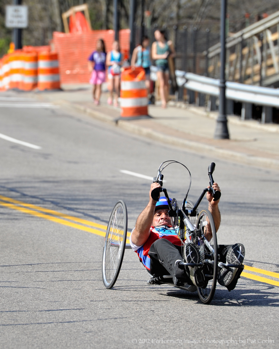Hand Cyclist Nano Chilmon 116th Boston Marathon