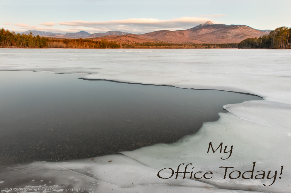 """My Office Today""  Chocorua Mountain and Lake, White Mountain National Forest, Albany, NH, USA"